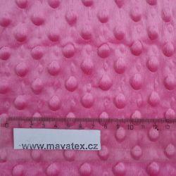 Minky tmavě růžová - 300 gsm vyrobeno v EU