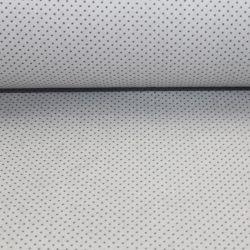 Šedá bavlna s malými bílými puntíky vyrobeno v EU- atest pro děti bavlna