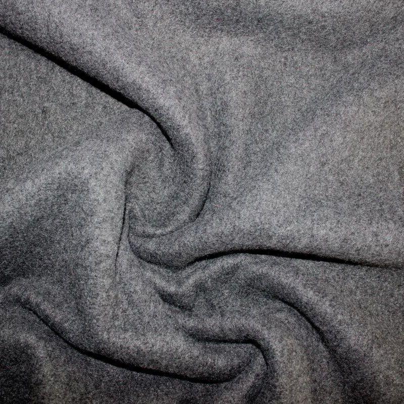 Šedý fleece na kabátek EU-úplety atest pro děti