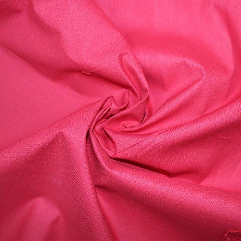 Středně červená bavlna oboustranně barvená vyrobeno v EU- atest pro děti bavlna