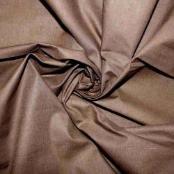 Tmavě hnědá bavlna oboustranně barvená