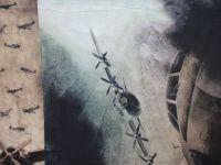 Panel na  triko velký- letec v poušti