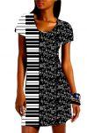 Panel na šaty – noty a klávesnice