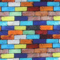 Teplákovina  barevné cihličky-digitální tisk