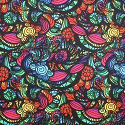 Teplákovina barevné ornamenty - digitální tisk