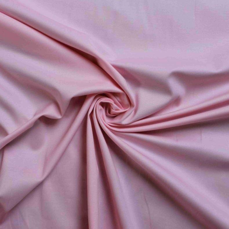 Světle růžová bavlna oboustraně barvená vyrobeno v EU- atest pro děti bavlna