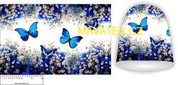 Panel na čepice -motýlci
