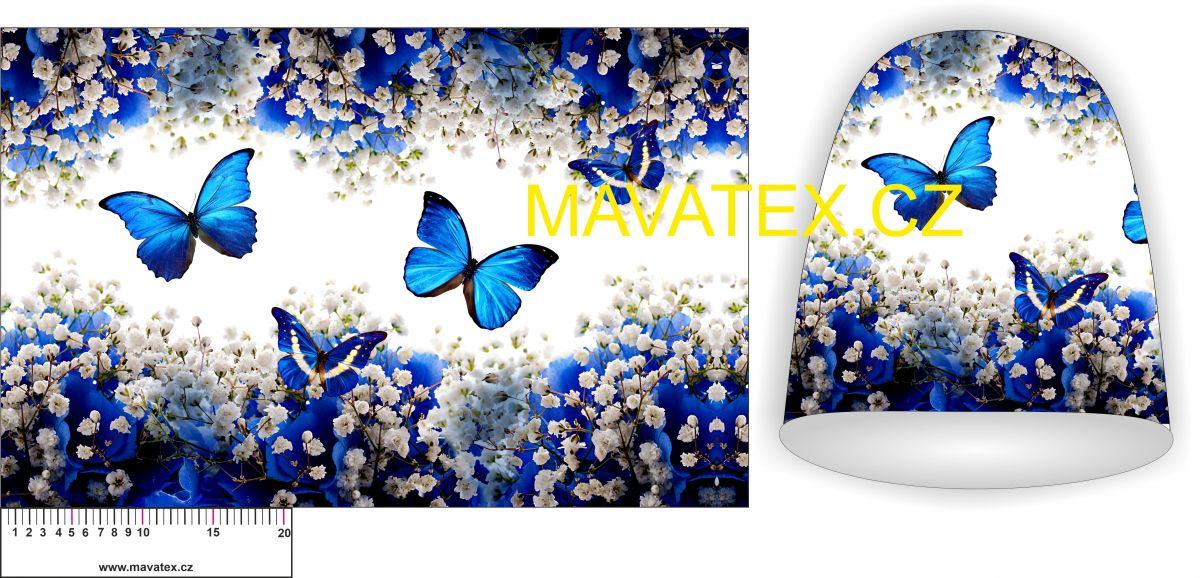 Panel na čepice -motýlci vyrobeno v EU