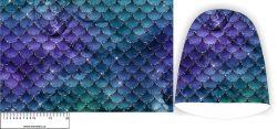 Panel na čepice - fialové šupiny