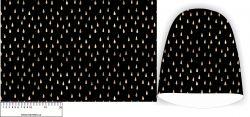 Panel na čepice - zlaté kapky na černé