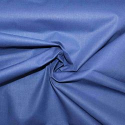 Modrá bavlna oboustranně barvená