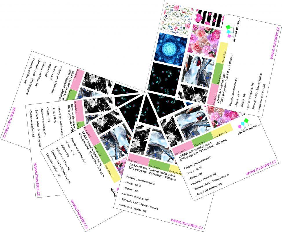 Vzorník - barevnice bavlna hladká- aktuelní vzorky na skladě Mavatex