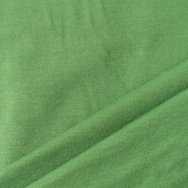 Jednolícní úplet středně zelená- barva 256 EU-úplety atest pro děti