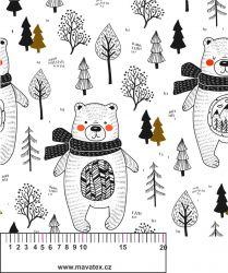 Medvídkové na bílé-sublimační digitální tisk mavaga design