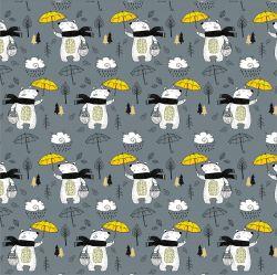 Medvídkové s deštníky-sublimační digitální tisk