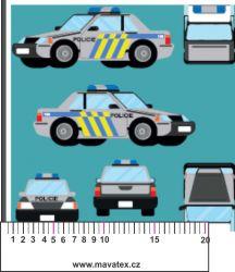 Policejní auta-sublimační digitální tisk mavaga design