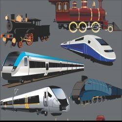 Vlaky na šedé-sublimační digitální tisk