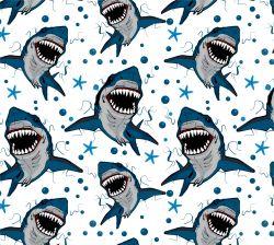Žraloci +barevné varianty-sublimační digitální tisk