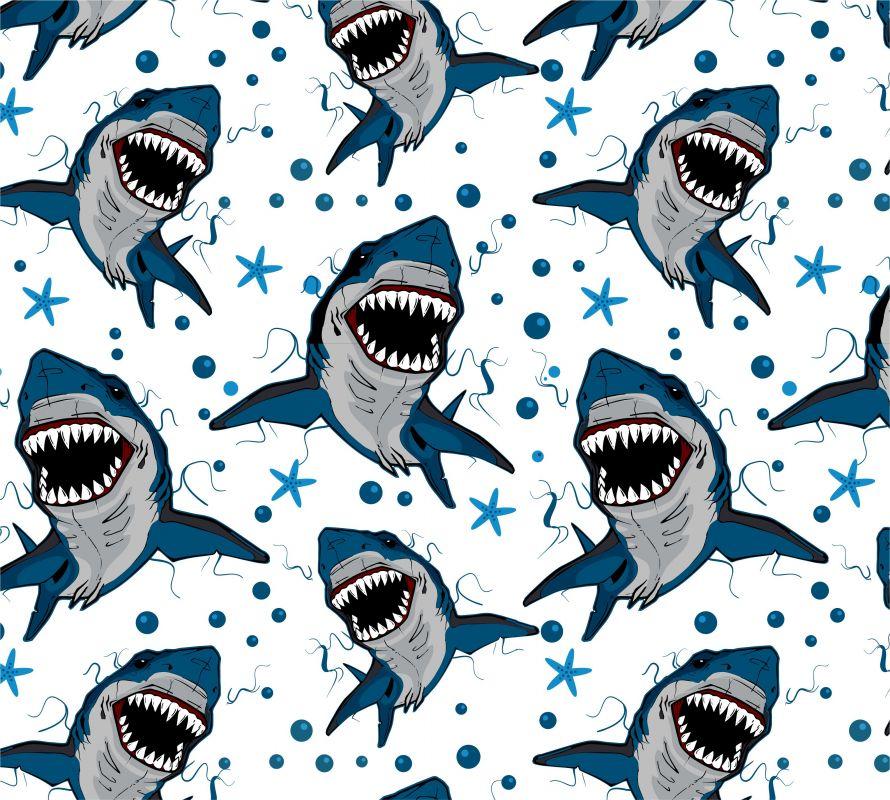 Žraloci +barevné varianty-sublimační digitální tisk mavaga design