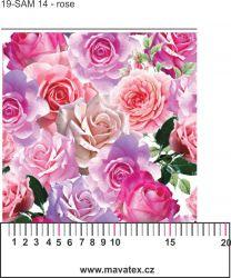 Růže-sublimační digitální tisk mavaga design
