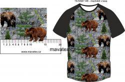 Medvědi v lese-sublimační digitální tisk mavaga design