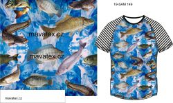 Ryby ve vodě-sublimační digitální tisk mavaga design