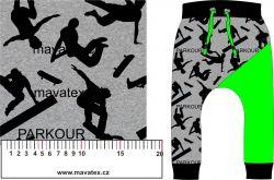 Parkour na šedé mellange--sublimační digitální tisk mavaga design