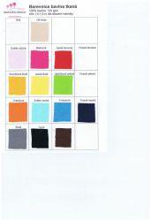 Střední žlutá bavlna oboustranně barvená vyrobeno v EU- atest pro děti bavlna