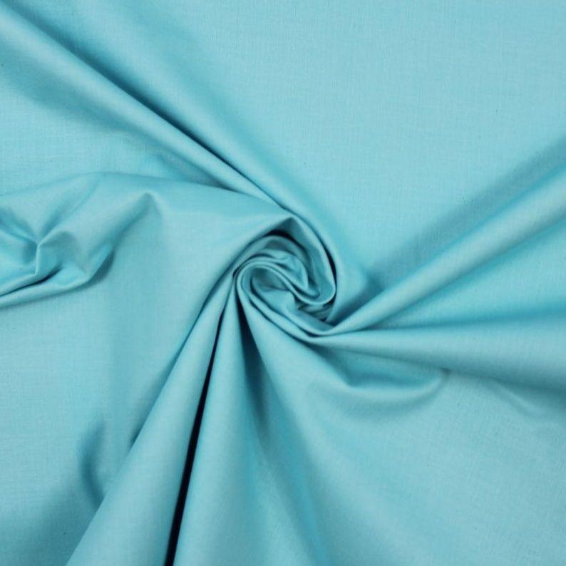 Světlá nebeská modrá bavlna oboustranně barvená vyrobeno v EU- atest pro děti bavlna