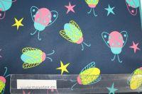 Softshell tmavě modrý s barevnými brouky -zimní EU-úplety atest pro děti