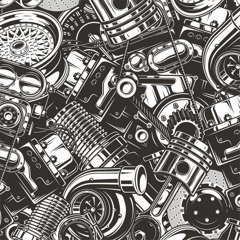 Velké motory- digitální tisk mavaga design