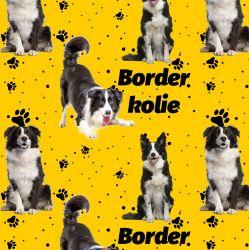 Border kolie na bílé -digitální tisk mavaga design