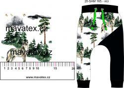 Vlci v lese - digitální tisk mavaga design