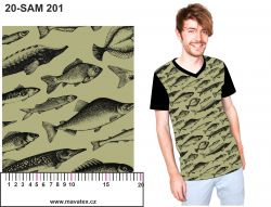Obrys ryby na army- digitální tisk mavaga design