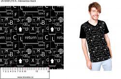 Klávesnice na černé -digitální tisk mavaga design
