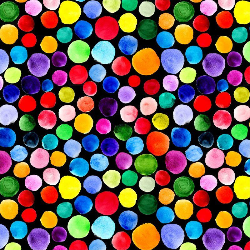 Malované puntíky- digitální tisk mavaga design