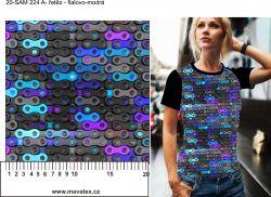 Řetěz fialovo-modrý-digitální tisk mavaga design