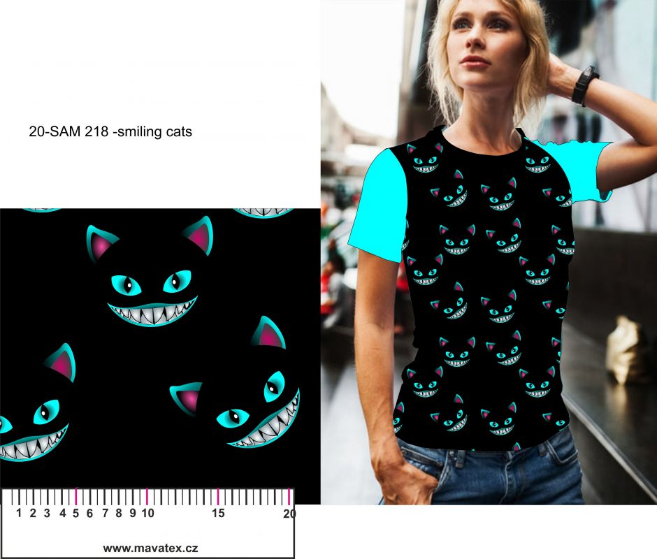 Smilling cats -digitální tisk mavaga design