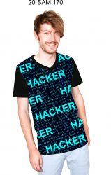 Hacker- digitální tisk mavaga design