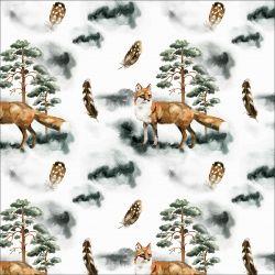 Lišky v lese - digitální tisk