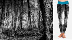 PANEL NA LEGINY- černobílé stromy - GARZATO