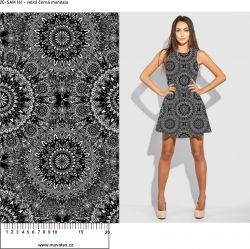 Softshell černo-bílé mandaly- BERÁNEK mavaga design