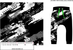 Softshell otisk penumatiky -černo-bílá- BERÁNEK mavaga design