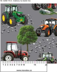 Softshell traktory+ varianty- BERÁNEK mavaga design