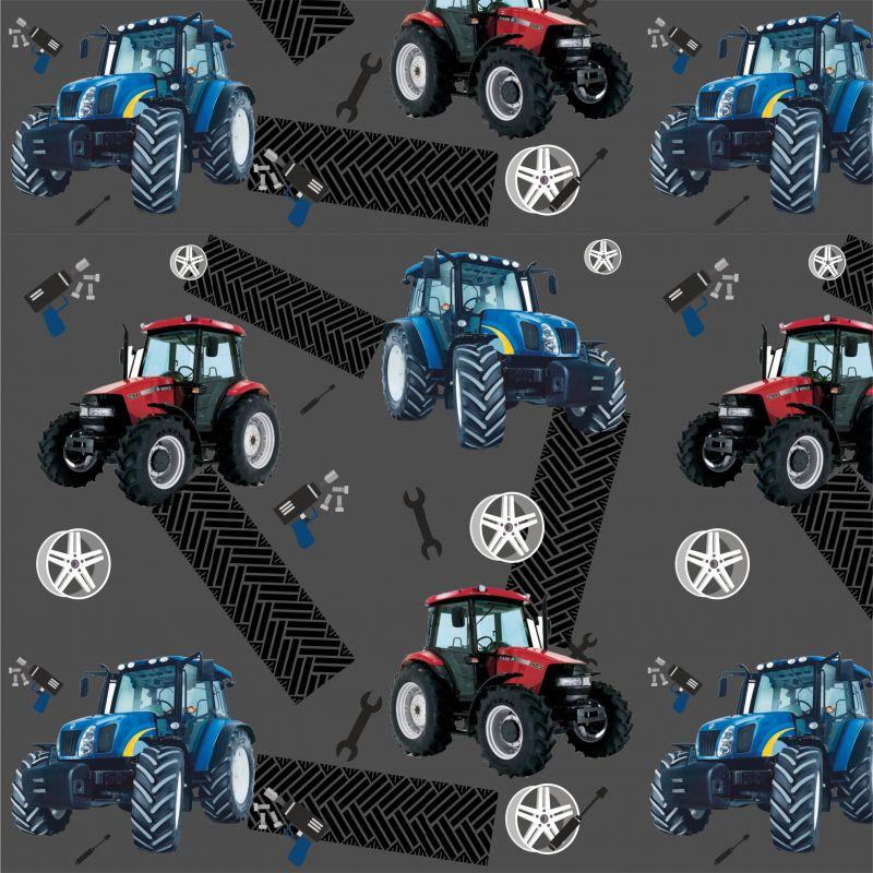 Softshell traktory na šedé - BERÁNEK mavaga design