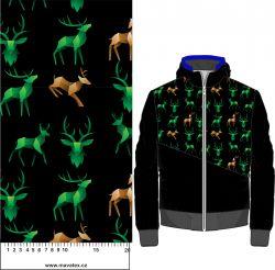 3D jeleni zelená a hnědá- digitální tisk mavaga design