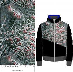 Červené zmrzlé bobule- digitální tisk mavaga design