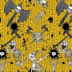 Kostry Tmavě žlutá- digitální tisk