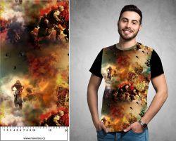Výbuch- digitální tisk mavaga design