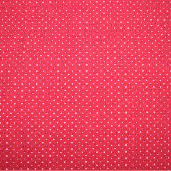 Jednolícní úplet červený s MINI puntíky